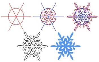 Образец рисунков снежинок