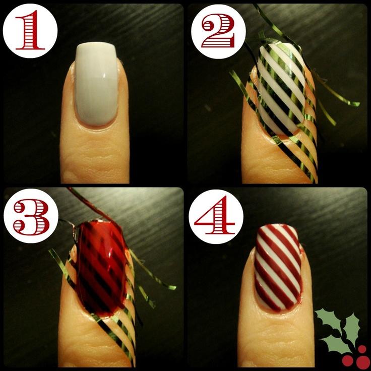 Дизайн ногтей с клейкими лентами